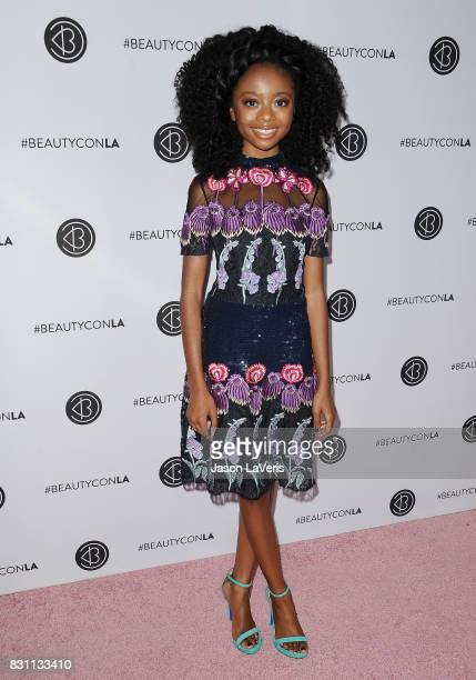 Actress Skai Jackson attends the 5th annual Beautycon festival at Los Angeles Convention Center on August 13 2017 in Los Angeles California