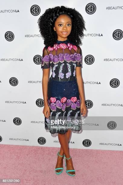 Actress Skai Jackson attends the 5th Annual Beautycon Festival Los Angeles at Los Angeles Convention Center on August 13 2017 in Los Angeles...