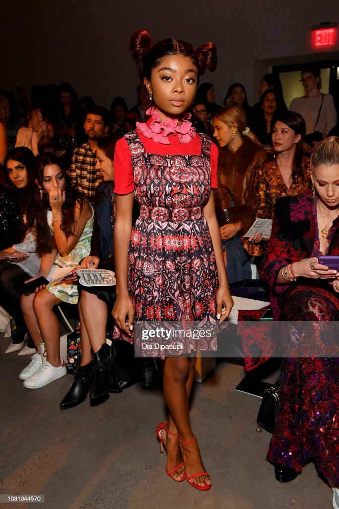 Anna Sui - Front Row - September 2018 - New York Fashion Week: The Shows : News Photo