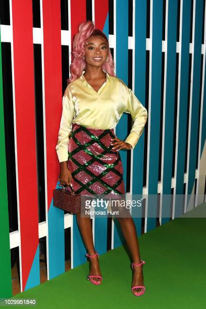 Actress Skai Jackson attends the Escada Front Row during New York Fashion Week on September 9 2018 in New York City