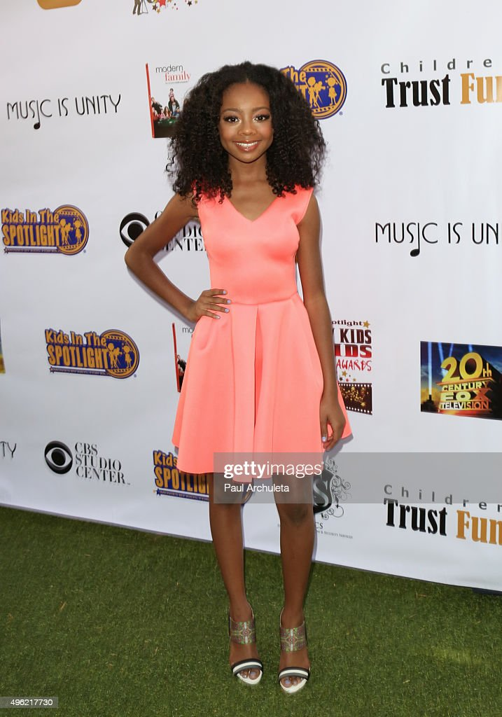Actress Skai Jackson attends the Kids In The Spotlight's Movies By Kids, For Kids Film Awards at Fox Studios on November 7, 2015 in Los Angeles, California.