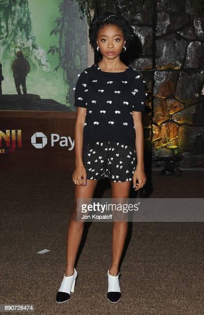 Actress Skai Jackson attends the Los Angeles Premiere Jumanji Welcome To The Jungle at the TCL Chinese Theatre on December 11 2017 in Hollywood...