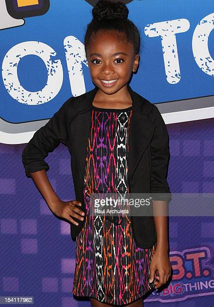 Actress Skai Jackson attends the NBT KickOff Concert at Hollywood And Highland Center on October 13 2012 in Los Angeles California