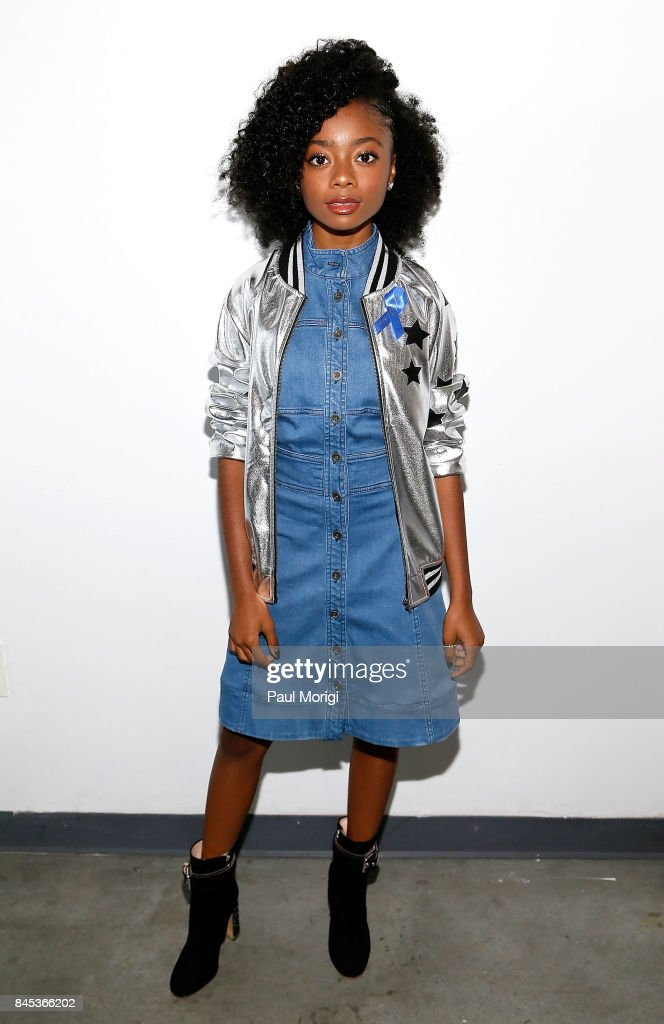 Actress Skai Jackson attends the Tracy Reese presentation during New York Fashion Week at Pier 59 on September 10, 2017 in New York City.