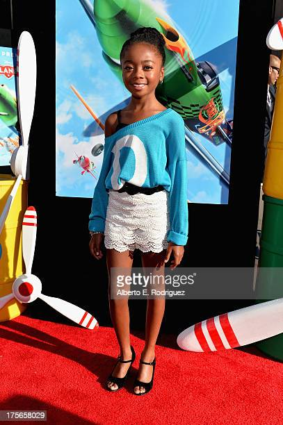 "Actress Skai Jackson attends the World Premiere of ""Disney's Planes"" at the El Capitan Theatre on Aug 5 in Hollywood California"