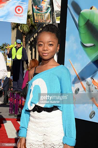 "Actress Skai Jackson attends the worldpremiere of ""Disney's Planes"" presented by Target at the El Capitan Theatre on August 5 2013 in Hollywood..."