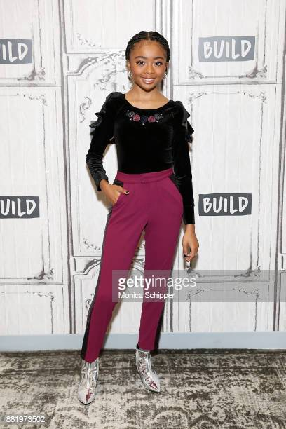 Actress Skai Jackson discusses Nowadays Collection at Build Studio on October 16 2017 in New York City