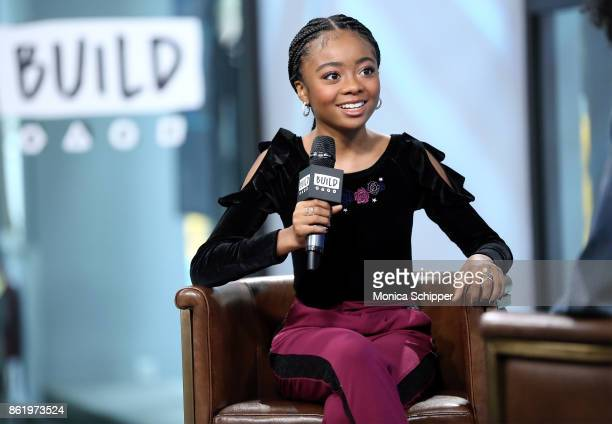 Actress Skai Jackson discusses 'Nowadays Collection' at Build Studio on October 16 2017 in New York City