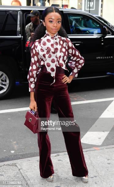 Actress Skai Jackson is seen outside good morning on September 30 2019 in New York City