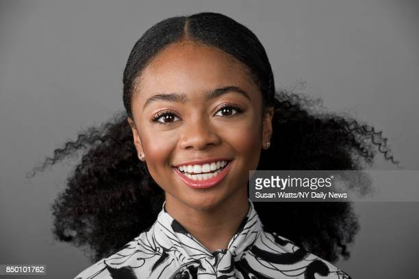 Actress Skai Jackson photographed for the New York Daily News on Thursday January 26 2017 in New York Actress Skai Jackson is photographed for NY...