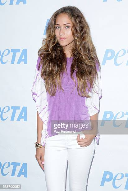 Actress Skylar Stecker attends the LA Launch Party for Prince's PETA Song at PETA on June 7 2016 in Los Angeles California