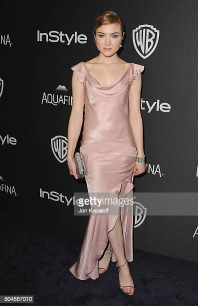 Actress Skyler Samuels arrives at the 2016 InStyle And Warner Bros 73rd Annual Golden Globe Awards PostParty at The Beverly Hilton Hotel on January...