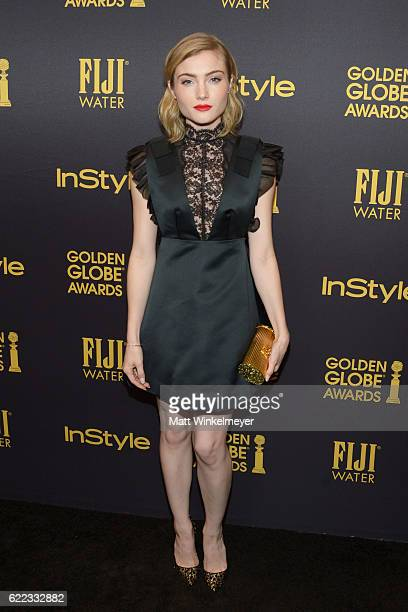 Actress Skyler Samuels arrives at the Hollywood Foreign Press Association and InStyle celebrate the 2017 Golden Globe Award Season at Catch LA on...