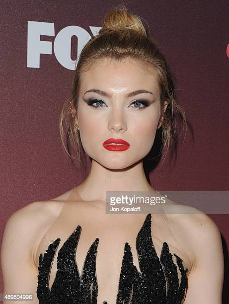 Actress Skyler Samuels arrives at the Premiere Of FOX TV's 'Scream Queens' at The Wilshire Ebell Theatre on September 21 2015 in Los Angeles...