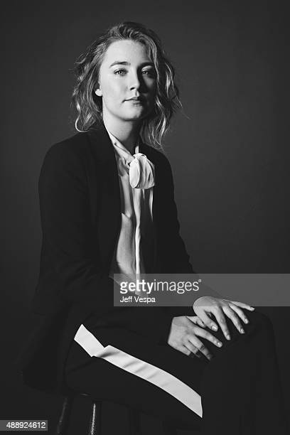 Actress Soairse Ronan of 'Brooklyn' poses for a portrait at the 2015 Toronto Film Festival at the TIFF Bell Lightbox on September 15 2015 in Toronto...