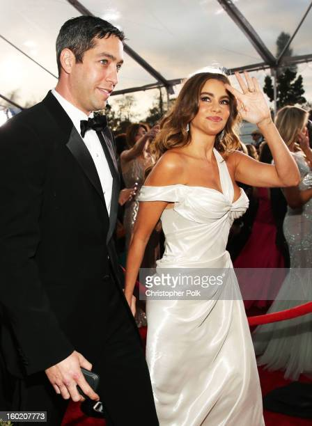 Actress Sofía Vergara and Nick Loeb attend the 19th Annual Screen Actors Guild Awards at The Shrine Auditorium on January 27, 2013 in Los Angeles,...
