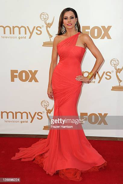Actress Sofía Vergara arrives at the 63rd Annual Primetime Emmy Awards held at Nokia Theatre LA LIVE on September 18 2011 in Los Angeles California