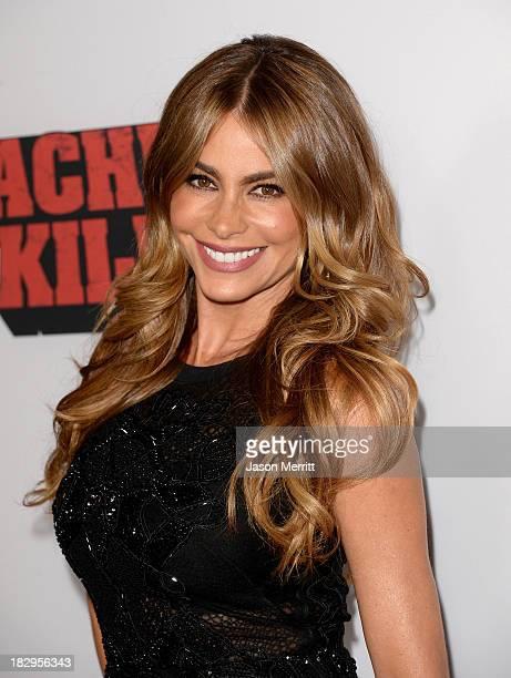 Actress Sofía Vergara arrives at the premiere of Open Road Films' Machete Kills at Regal Cinemas LA Live on October 2 2013 in Los Angeles California