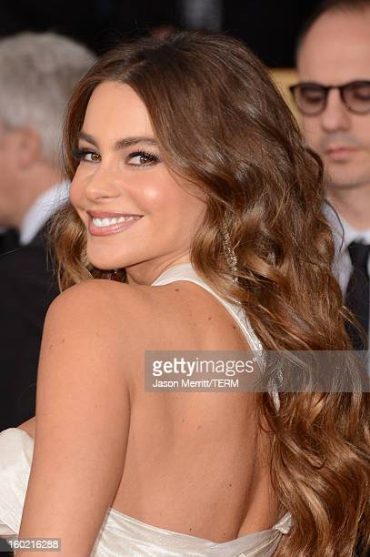 Actress Sof'a Vergara attends the 19th Annual Screen Actors Guild Awards at The Shrine Auditorium on January 27 2013 in Los Angeles California...