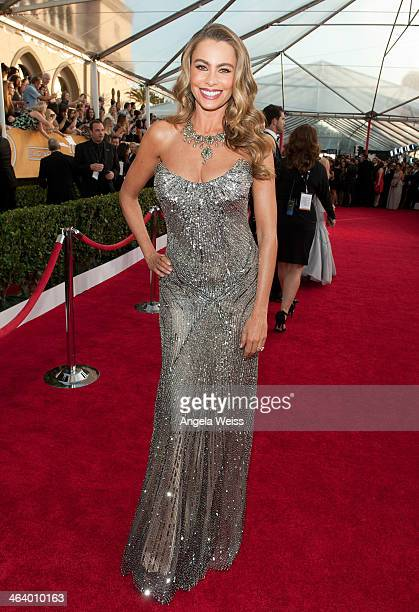 Actress Sofa Vergara attends the 20th Annual Screen Actors Guild Awards at The Shrine Auditorium on January 18, 2014 in Los Angeles, California.