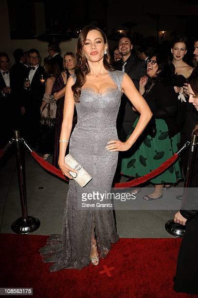 Actress Sofía Vergaraarrives at the 63rd Annual DGA Awards held at the Grand Ballroom at Hollywood Highland Center on January 29 2011 in Hollywood...
