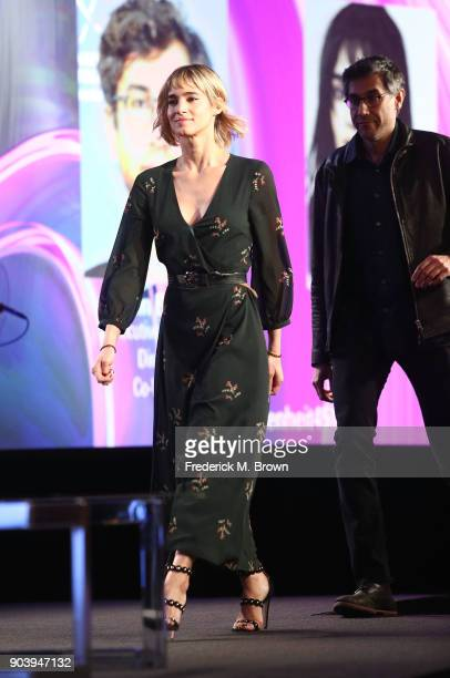 Actress Sofia Boutella and executive producer/director/cowriter Ramin Bahrani of the television show Fahrenheit 451 walk onstage during the HBO...