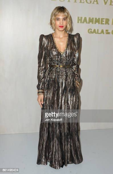 Actress Sofia Boutella arrives at Bottega Veneta Hosts Hammer Museum Gala In The Garden on October 14 2017 in Westwood California
