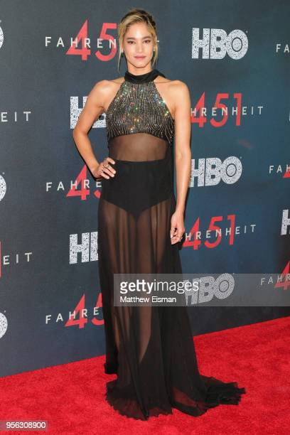 Actress Sofia Boutella attends the Fahrenheit 451 New York Premiere at NYU Skirball Center on May 8 2018 in New York City