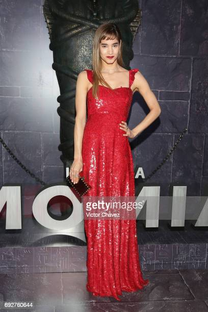 Actress Sofia Boutella attends 'The Mummy' Mexico City premiere at Plaza Carso on June 5 2017 in Mexico City Mexico