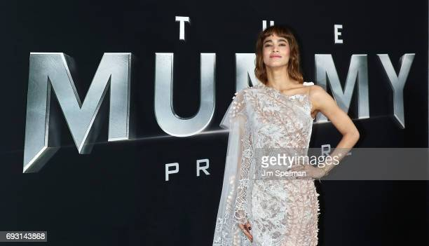 Actress Sofia Boutella attends 'The Mummy' New York fan event at AMC Loews Lincoln Square on June 6 2017 in New York City