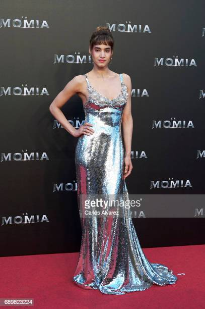 Actress Sofia Boutella attends 'The Mummy' premiere at the Callao cinema on May 29 2017 in Madrid Spain