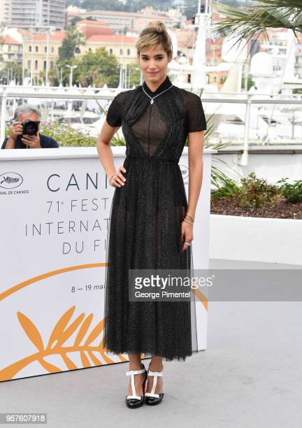 Actress Sofia Boutella attends the photocall for the Farenheit 451 during the 71st annual Cannes Film Festival at Palais des Festivals on May 12 2018...