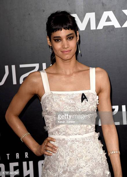 Actress Sofia Boutella attends the premiere of Paramount Pictures' Star Trek Beyond at Embarcadero Marina Park South on July 20 2016 in San Diego...