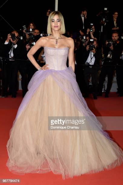 """Actress Sofia Boutella attends the screening of """"Farenheit 451"""" during the 71st annual Cannes Film Festival at Palais des Festivals on May 12, 2018..."""