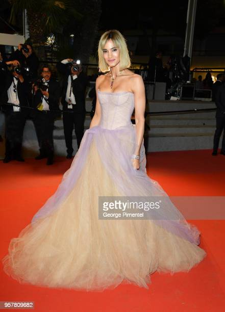 Actress Sofia Boutella attends the screening of Farenheit 451 during the 71st annual Cannes Film Festival at Palais des Festivals on May 12 2018 in...