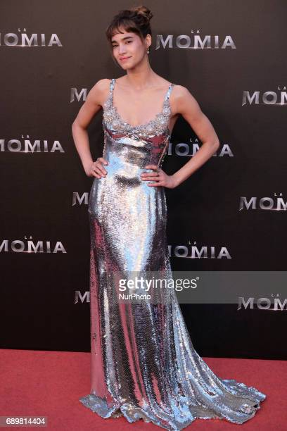 actress Sofia Boutella poses for the media as she arrives for the Spanish premiere of her movie quotThe Mummyquot in Madrid Monday May 29 2017