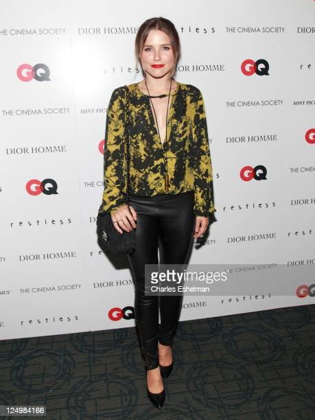 Actress Sofia Bush attends the Cinema Society with Dior Homme GQ screening of 'Restless' at Landmark Sunshine Theater on September 14 2011 in New...