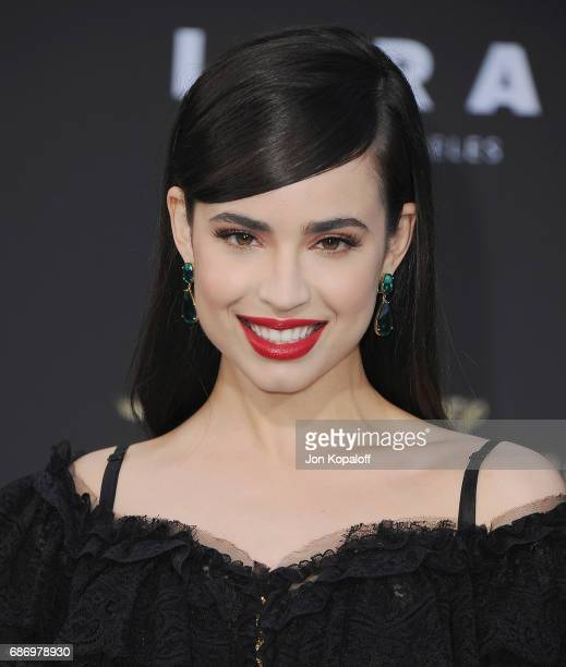 Actress Sofia Carson arrives at the Los Angeles Premiere 'Pirates Of The Caribbean Dead Men Tell No Tales' at Dolby Theatre on May 18 2017 in...