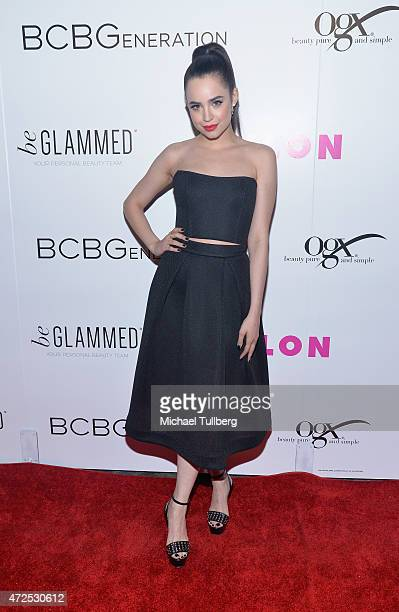 Actress Sofia Carson attends NYLON Magazine and BCBGeneration's Annual May Young Hollywood Issue Party at HYDE Sunset Kitchen Cocktails on May 7 2015...