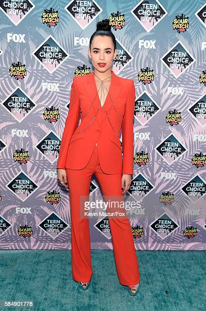 Actress Sofia Carson attends Teen Choice Awards 2016 at The Forum on July 31 2016 in Inglewood California