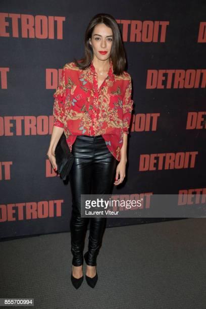 Actress Sofia Essaidi attends 'Detroi' Paris Premiere at Cinema UGC Normandie on September 29 2017 in Paris France
