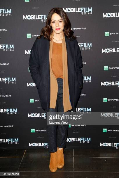 Actress Sofia Essaidi attends Mobile Film Festival 2018 at Mk2 Bibliotheque on March 13 2018 in Paris France