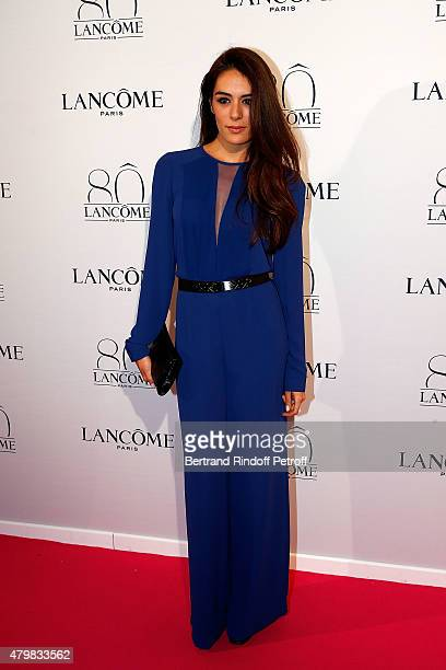 Actress Sofia Essaidi attends the Lancome 80th Anniversary Party as part of Paris Fashion Week Haute Couture Fall/Winter 2015/2016 on July 7 2015 in...