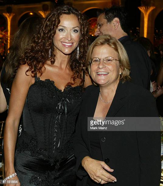 Actress Sofia Milos and US Congresswoman Ileana RosLehtinen attend the Church of Scientology Celebrity Centre 35th Anniversary Gala on August 7 2004...