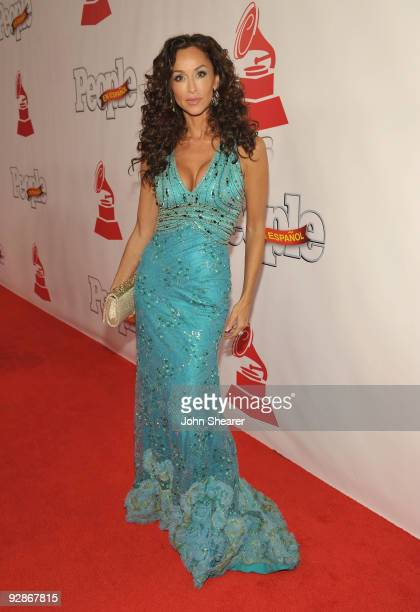 Actress Sofia Milos arrives at the 10th Annual Latin GRAMMY Awards after party held at the Mandalay Bay Convention Center on November 5 2009 in Las...