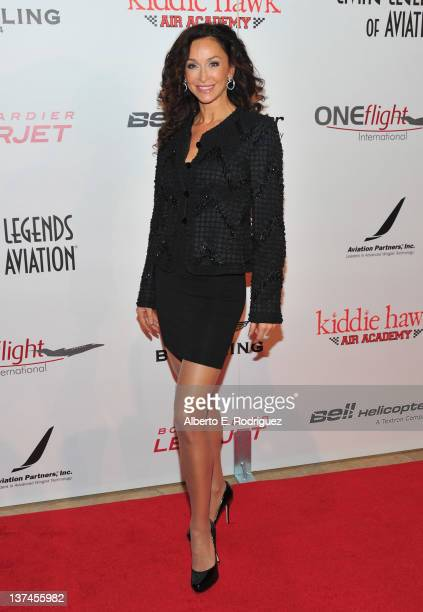 Actress Sofia Milos arrives to the 9th Annual Living Legends of Aviation Awards at The Beverly Hilton hotel on January 20 2012 in Beverly Hills...