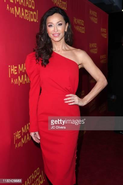 Actress Sofia Milos attends 'HE MATADO A MI MARIDO' Los Angeles Premiere at Harmony Gold Theatre on February 26 2019 in Los Angeles California