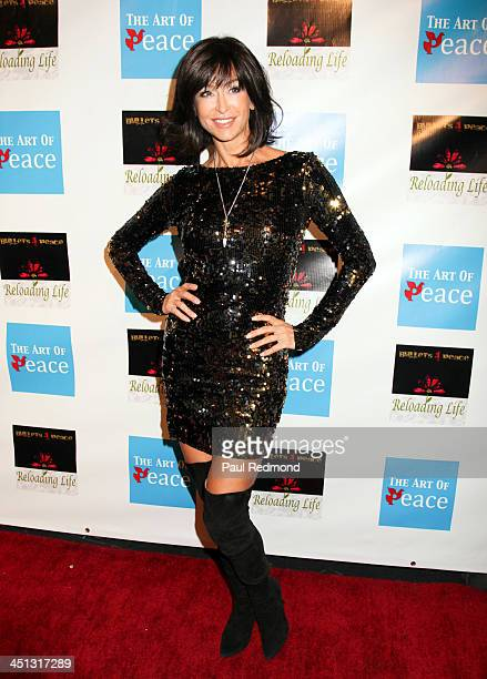 Actress Sofia Milos attends Reloading Life The Art Of Peace Anti Gun Violence Event at SupperClub Los Angeles on November 21 2013 in Los Angeles...