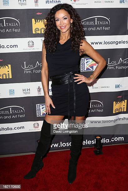 Actress Sofia Milos attends the 8th Annual Los Angeles ItaliaFilm Fashion and Art Fest event honoring Quentin Tarantino and Christoph Waltz at Mann...