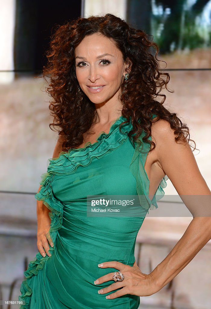 Actress Sofia Milos attends the BritWeek Christopher Guy event with official vehicle sponsor Jaguar on April 26, 2013 in Los Angeles, California.